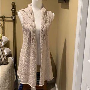 Adrienne Vittadini Marled Knit Sleeveless Vest M